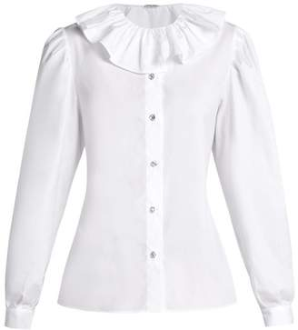 Womens White Ruffle Blouses - ShopStyle