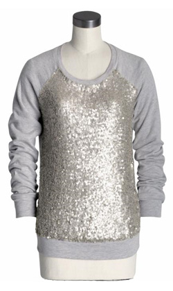 Real vs. Steal - Elizabeth and James Sequined Sweatshirt