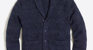 Cotton shawl-collar cardigan sweater : FactoryMen Cardigan | Factory