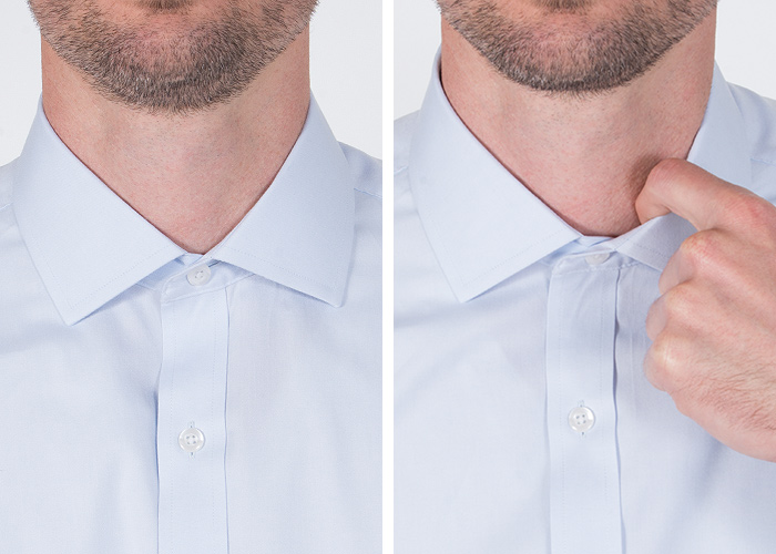 How Snug Should a Shirt Collar Fit - Proper Cloth Reference