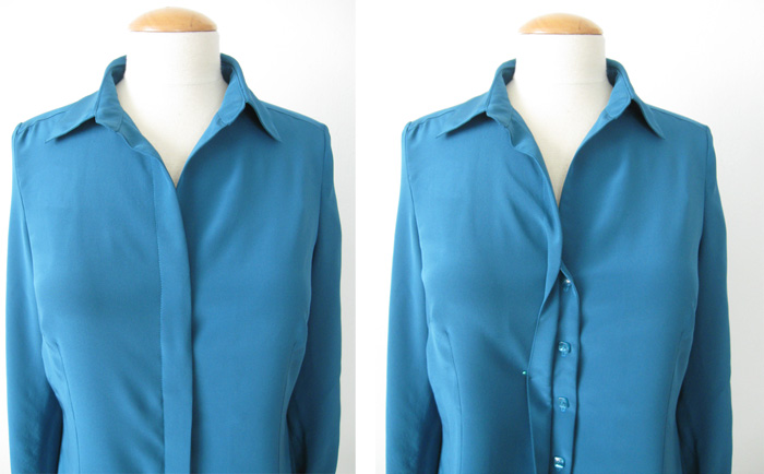 How to Make Hidden Button Placket for Blouses