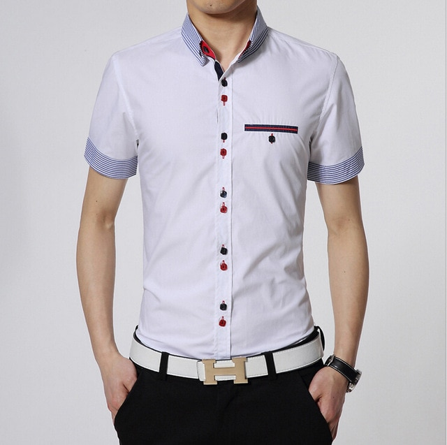 Shirt with breast pocket