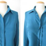 Shirt with button placket
