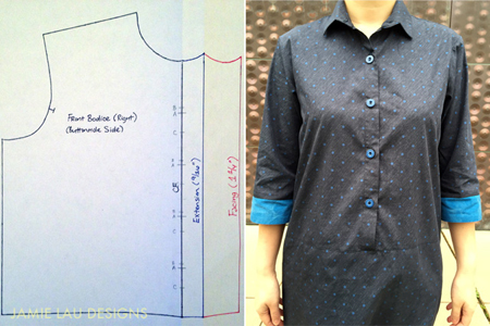 Polka Dot Shirt Dress With Button Placket Tutorial / Britex Fabrics