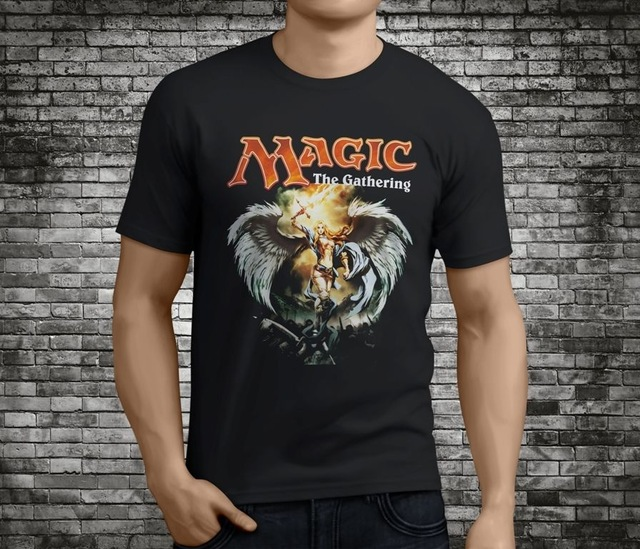 Brand Cotton Clothing Male Slim Fit T Shirt Casual Mtg Magic The