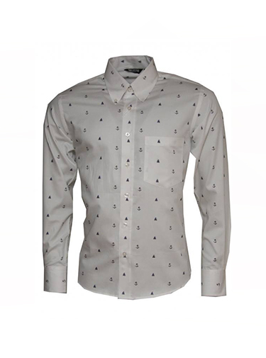 Platinum Relco Anchor Pattern Shirt - Shirts And Things