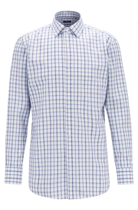 Slim-fit shirt in Oxford cotton with Vichy check by HUGO BOSS