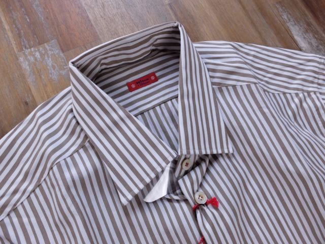 Kiton Shirt Striped Napoli Italy Gents Authentic Size 41 / 16 | eBay