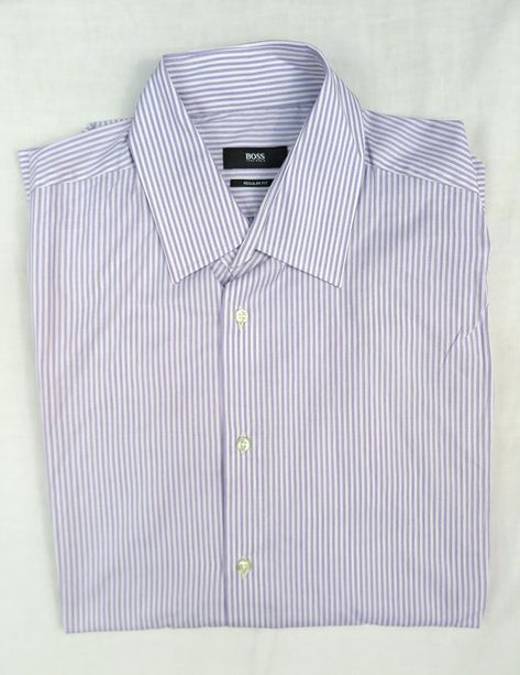 HUGO BOSS MENS REGULAR FIT SHIRT Size 41 / 16 #fashion #clothing