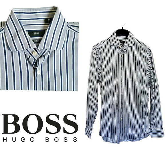 Hugo Boss Shirts | Long Sleeve Button Front Shirt Size 41 | Poshmark