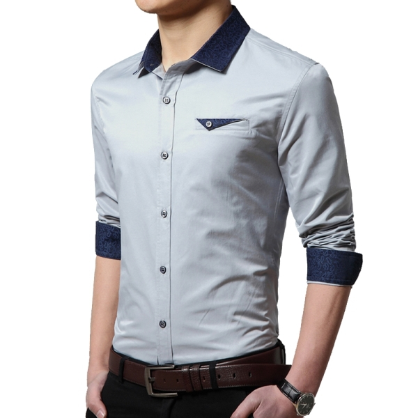 Buy 2015 Hot Sale Men Slim Shirts Size M-3XL Male Fashion Camicia