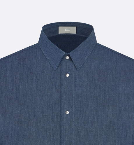 Shirt, press-studs, indigo cotton - Ready-to-Wear - Man | DIOR