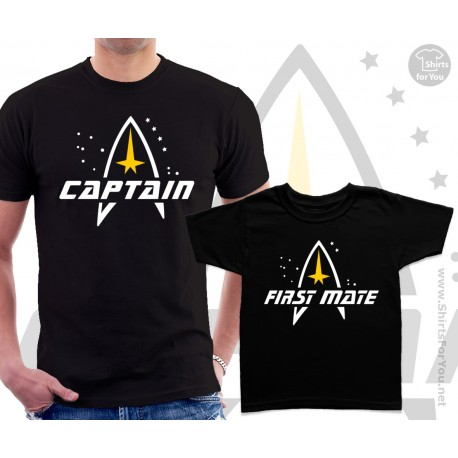 Star Trek Captain and First mate Matching T Shirts