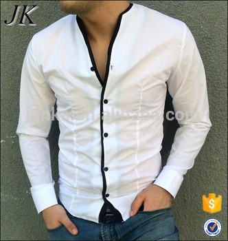 Oem Fashion Stylish Mens Kurta No Collar Long Sleeve Casual Cotton