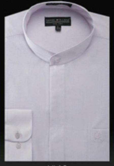 Basic Banded Collar dress shirts without collars Mandarin Collarless