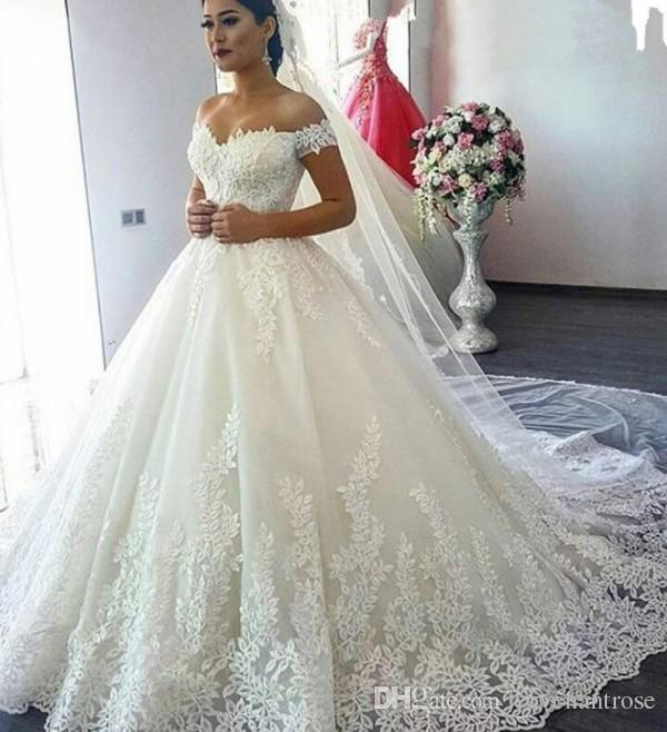 Vintage Princess Style Wedding Dresses In Turkey Off Shoulder Short
