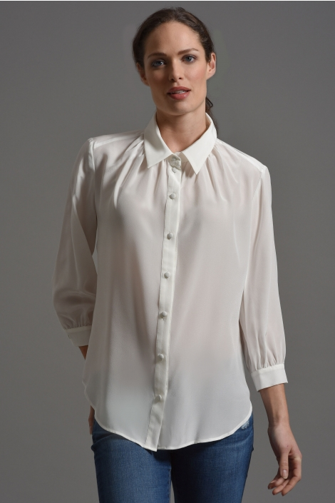 Silk Blouse | White Silk Blouses for Women | White Blouses