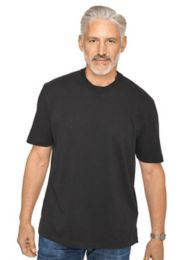 Cotton & Silk Crewneck T-shirt | Paul Fredrick