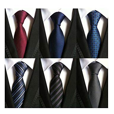 WeiShang Lot 6 PCS Classic Men's 100% Silk Tie Necktie Woven