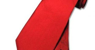 100% SILK Solid Rose RED Neck Tie. Men's NeckTie. at Amazon Men's