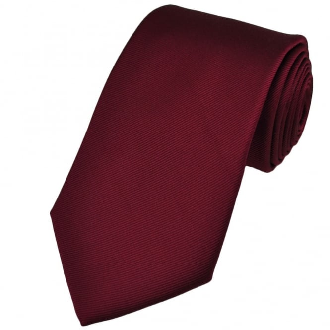 Plain Burgundy Red Silk Tie from Ties Planet UK