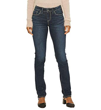 Amazon.com: Silver Jeans Co. Women's Avery Curvy Fit High-Rise
