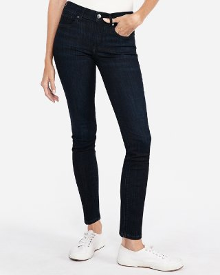 Mid Rise Ripped Super Skinny Jeans | Express