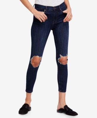 Free People Busted Knee Skinny Jeans & Reviews - Jeans - Women - Macy's