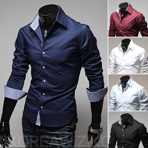 2019 Mens Slim Fit Business Shirts 2016 New Arrival Dress Shirt