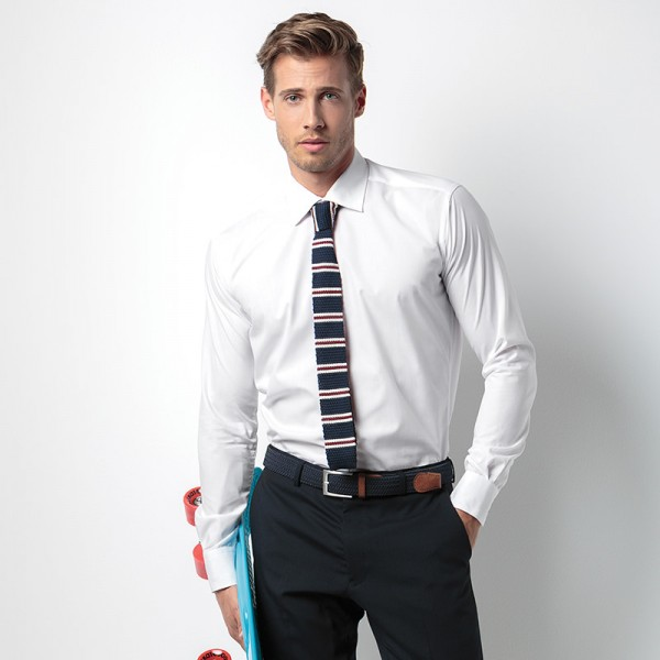 Slim Fit Business Shirt - Image at work