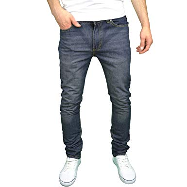 Soulstar Mens Designer Slim Fit Jeans at Amazon Men's Clothing store: