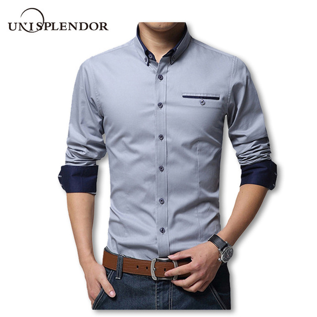 2019 New Spring Cotton Shirts Men High Quality Long Sleeve Slim Fit