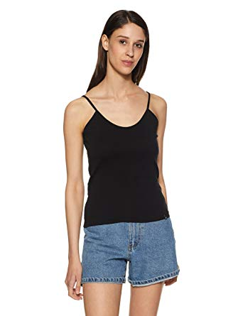 Jockey Women's Cotton Spaghetti Top: Amazon.in: Clothing & Accessories