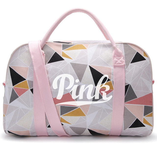 Girl Canvas PINK Sneaker Sports Bag for Women Fitness Gym Bag