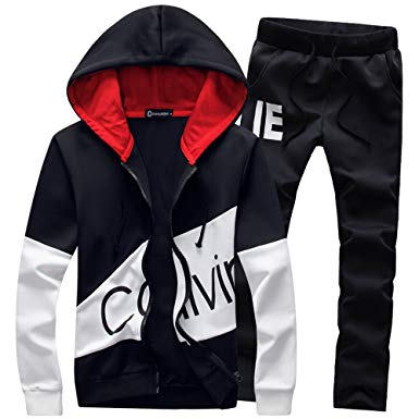 Manluo Hoodies Sports Suits Print Slim Fit Young Track Suit Outwear