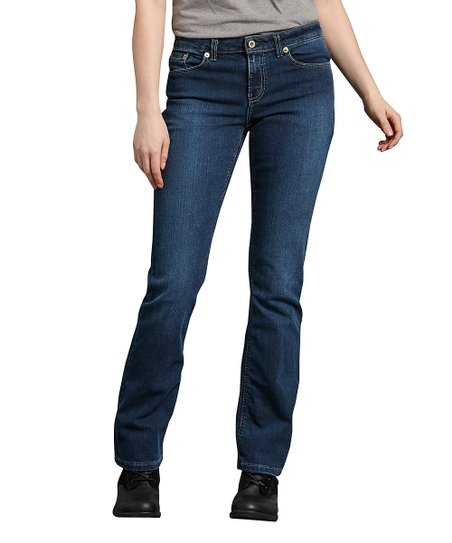 Dickies Medium Stone-Washed Boot-Cut Jeans - Womens Short | Zulily