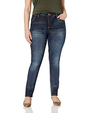 Stone Washed Skinny Jeans for Women Slim Fit Stretch Ankle Jeans in