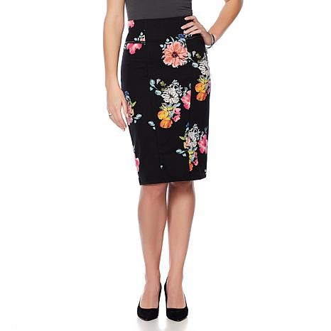 Wendy Williams Straight Ponte Pencil Skirt - 8550812 | HSN