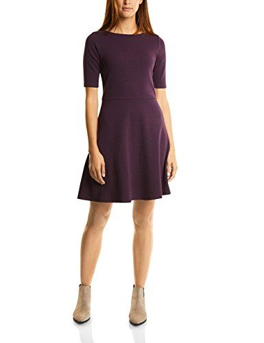 Street One Damen Kleid Dessin Sweat Dress Violet (Night Blue 20109