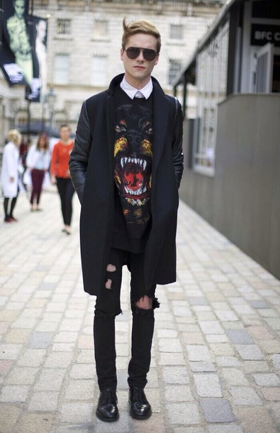 givenchy, coat, urban outfitters, streetwear, menswear, mens coat