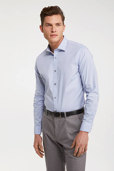 Solid color stretch shirt - Non-Iron - Shirts | TRISTAN