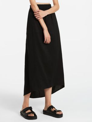 linen rayon stretch skirt | Calvin Klein