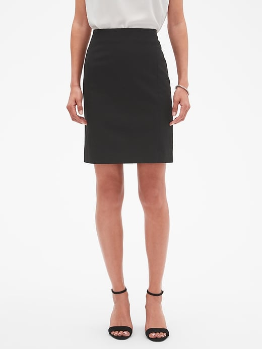 Machine Washable Black Bi-Stretch Pencil Skirt | Banana Republic