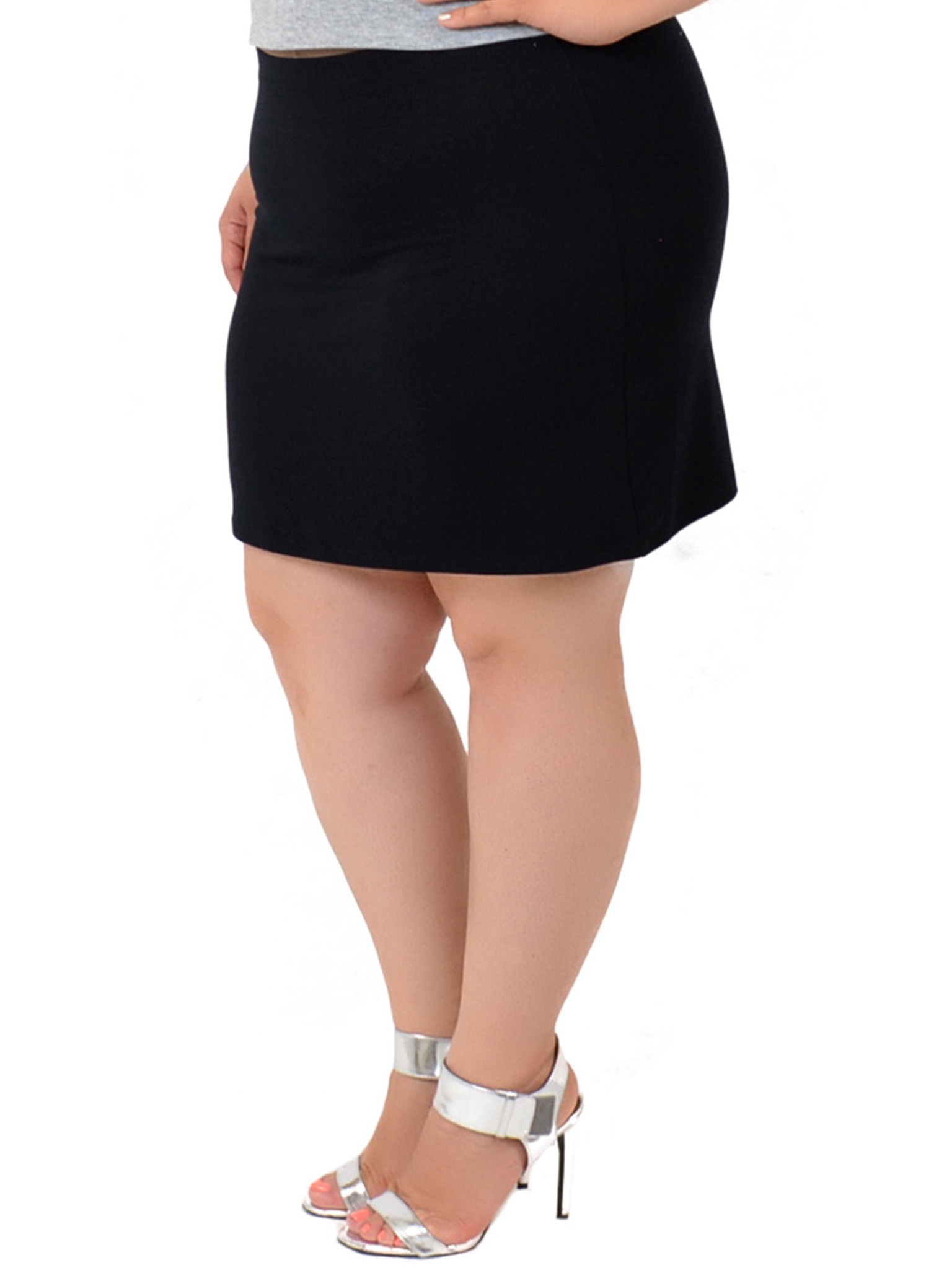 Stretch Is Comfort - Plus Size Cotton Soft Stretch Fabric Basic Mini