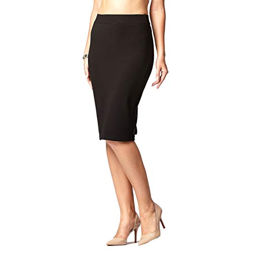 Black Stretch Pencil Skirt: Amazon.com