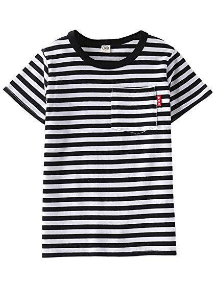 Amazon.com: ASHERANGEL Unisex Kids Classic Striped T-Shirt Girls