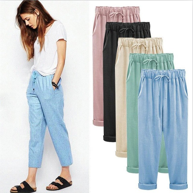 Aliexpress.com : Buy 2018 summer cotton linen pants women plus size