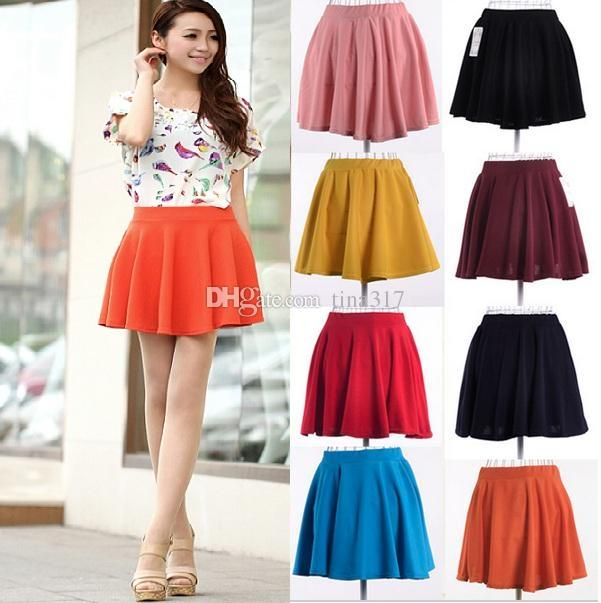 2019 Hot Plus Size Spring Summer Skirt Short Half Length Skirt High