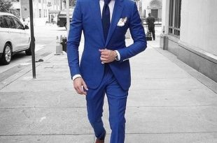 Custom Royal Blue Men Suits 2018 Summer Slim Fit Tuxedo Blazer Prom