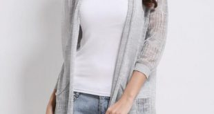 2019 New Women'S Spring And Summer Sweater Cardigan Long Of Ultra